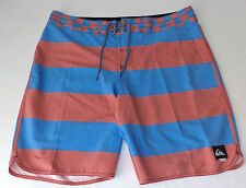 NWT Quiksilver Red & Blue Stripe Tie Front Board Shorts    Size  29    L543