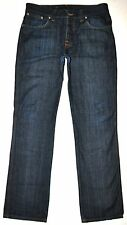 Nudie Men's Slim Jim NJ2398 Dry Broken Twill Dark Blue Jeans 33 X 32 ITALY NICE