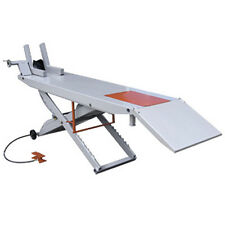 """Weaver Lift Motorcycle Air Lift Table Portable Air Powered W/Free Vise 84"""" Table"""