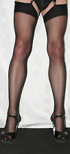 5 pairs Black Sheer 15 Denier Stockings Large