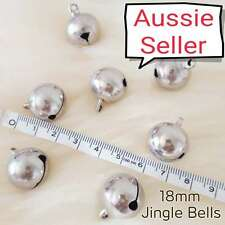 X Large SILVER Jingle Bells DIY Charm Craft pet dog cat animal collar 18mm bell