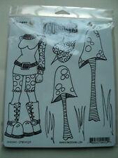RANGER DYLUSIONS BY DYLAN REVEALEY CLING STAMPS SHROOMS NEW! *LOOK*