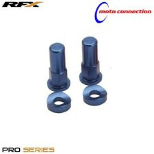 RFX PRO SERIES RIM LOCK NUTS & WASHERS BLUE FOR YAMAHA YZ125 YZ250 2000