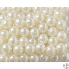 White Pearl Finish Acrylic Beads 10mm Large Bag 210 pieces