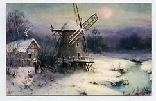 WHITE WINTER. HIVER BLANC. Moulin à vent.  Windmill. OILETTE