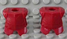 LEGO - 2 x Ritter - Rüstung dunkelrot / Ritterrüstung / Armor / 2587 NEUWARE