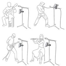 """Hot Music Microphone Stand Mount Holder For 8-11"""" LG PAD Acer Asus Huawei Tablet"""