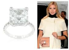 Celebrity Style 7.2 Ct CZ Brilliant Cushion Cut Wedding Engagement Ring Size 9