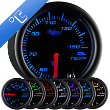 52mm GlowShift Black 7 Color Oil Temp Temperature °C Gauge w. 7 Color Display