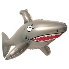 "INFLATABLE SHARK BLOW UP PIRATE HAWAIIAN PARTY 90CM / 35.43"" BEACH LUAU"
