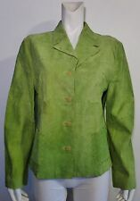 Think Tank Green Button Down Suede Stitch Design Fully Lined Jacket Size XL