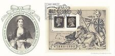 (93837) GB Bradbury FDC Penny Black minisheet London 6 MAGGIO 1990 99/250
