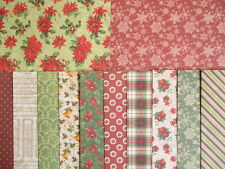 "Dovecraft Winter Blooms Christmas 12 sheets 6x6""  Scrapbook backing Papers"