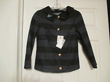 LOVE MOSCHINO STRIPED DENIM JACKET SIZE 4 US / 40  NWT MADE IN ITALY