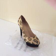Original Charlotte Olympia Estampado de Leopardo Zapatos De Plataforma Talla 39.5 usado una vez!!!