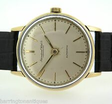 .1950s IWC INTERNATIONAL WATCH CO GNTS 18k GOLD C.852 AUTOMATIC WATCH SERVICED