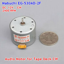 Audio Motor for Tape Deck Mabuchi EG-530AD-2F DC 12V CW Capstan Motor Audiomotor
