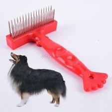 New Pet Dog Cat Grooming Self Cleaning Slicker Brush Comb Hair Fur Shedding Tool