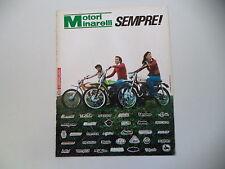 advertising Pubblicità 1974 MOTORI MINARELLI e CIMATTI KAIMAN/MB MILANI/TESTI