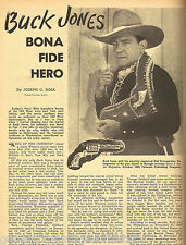 "Buck Jones ""Bona Fide Hero"", Cowboy & Movie Star"