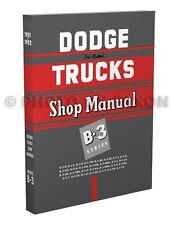 1951 1952 Dodge Truck Repair Shop Manual B-3 Pickup Panel B3 Service Book