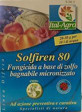 ITAL-AGRO SOLFIREN 80 fungicida a base di zolfo per orto e giardino 200g.