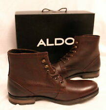 BRAND NEW ALDO XENOS LEATHER BOOTS MEN'S SIZE 9.5 BROWN