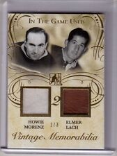 HOWIE MORENZ ELMER LACH 15/16 Leaf In The Game Used Jersey Glove Patch #1/3 GOLD