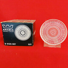 ARABIA FINLAND Kastehelmi COASTERS Set of 6 NEW NEVER USED BOXED