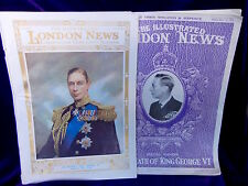 2 Issues The Illustrated London News King George VI Coronation & Death 1937-1952