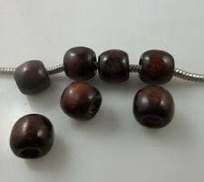 100pcs coffee Big hole wood Spacer bead Suitable for bracelet beads 9x10mm