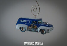 Ford Truck Peanuts Charlie Brown Lucy Linus Woodstock Snoopy Christmas Ornament