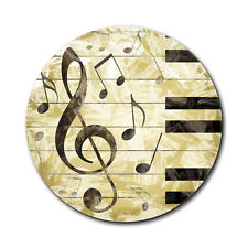 Vintage Piano with Treble Clef and Music Notes Mouse Pad