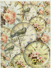 Papel De Arroz Para Decoupage Decopatch Scrapbook Craft Hoja Vintage Shabby Aves