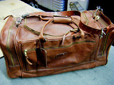VINTAGE GOKEY JW HULME Bullhide Leather Duffle/Luggage carry on Bag
