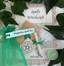 Prosperity Spell Kit  Votive Candle and Bath Magic Wicca