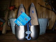 DR SCHOLLS WOMENS DRESS SLIPPERS SIZE 8 PEWTER COLOR CASUAL SUMMER SHOES NEW