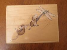 House Mouse Dragonfly-ing rubber stamp Stampabilities