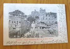CARTOLINA TERAMO BORGO MEDIOEVALE RARA VIAGGIATA 1906 SUBALPINA ZZ