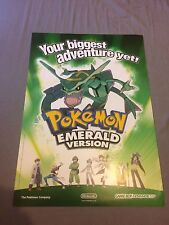 Nintendo Pokemon Emerald Official Rayquaza Double Sided Promo Poster, Ultra Rare
