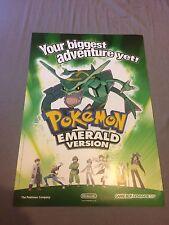 Nintendo Pokemon Esmeralda oficial Rayquaza Cartel Promo de doble cara, Ultra Raro