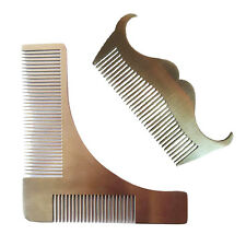 Steel Comb Metal Beard Comb Stainless Steel Face Style Shaping Shaving Tool
