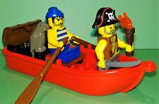 LEGO - Pirates - Pirate Boat Treasure Chest Accessory - 2x Minifigures & Parrot