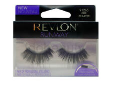REVLON FALSE EYELASHES EYELASH EYE LASH LASHES EPIC 2X LAYER 91265 LONG BLACK