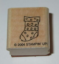 Christmas Stocking Rubber Stamp Mini Stampin' Up! New Wood Mounted Retired