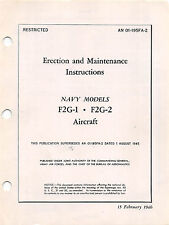 F2G-1, F2G-2 Erection and Maintenance  Inst's flight Manual.....CD Version