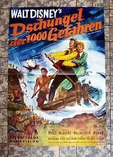 WALT DISNEY * Dschungel der 1000 Gefahren - A1-FILMPOSTER EA German 1-Sheet ´65