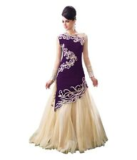 Purple India Pakistan Formal Prom Dress Gown For Women Evening Party Long Dress
