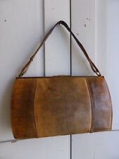Antique James Florsheim 1930s genuine lizard skin handbag