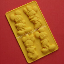 Mickey & Minnie Mouse silicone mold for chocolate, fondant, clay. 4 cavities